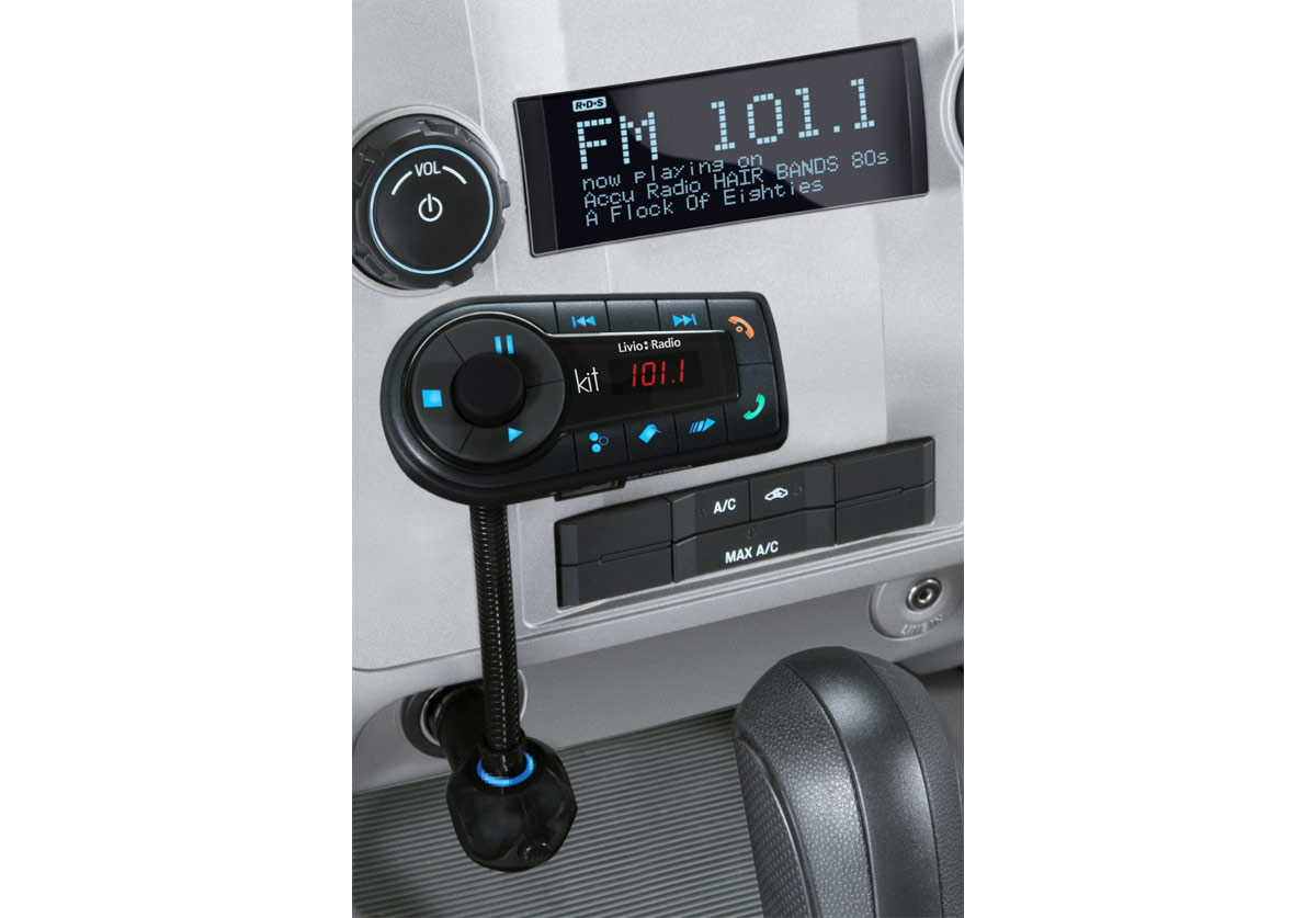 livio lvc02a internet radio car kit for iphone and ipod. Black Bedroom Furniture Sets. Home Design Ideas
